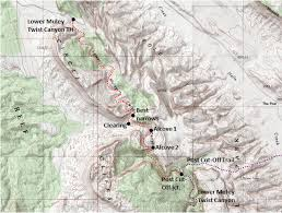 capitol reef national park map lower muley twist section capitol reef national
