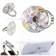 metal unicorn ring holder images Patterned universal smartphone rhinestone finger grip ring holder jpg