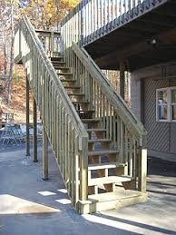 how to build tall outdoor stairs for a high 2nd story deck or balcony