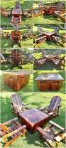 Patio Furniture Pallets by Wood Pallets Adirondack Patio Furniture Set Wood Pallet Furniture