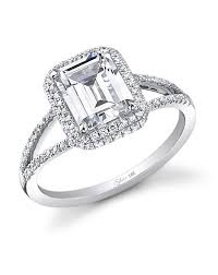 neil emerald cut engagement rings neil engagement ring and wedding band set 39 rings an