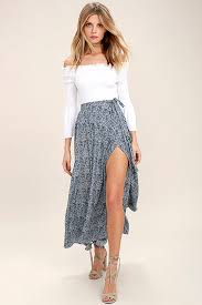 maxi skirt lovely navy blue skirt print skirt wrap skirt maxi skirt