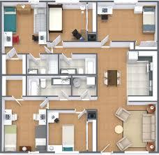 five bedroom floor plan floor plans sycamore lane apartments