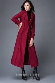 fashion design ladies suit 2018 new fashion suit collar red color wool mink coat with red