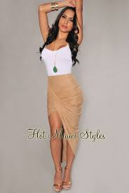 Draped Asymmetrical Maxi Skirt Faux Suede Ruched Asymmetrical Draped Skirt