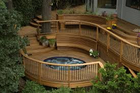 deck stunning ground level deck plans for inspiring outdoor