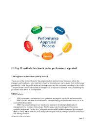 pastor evaluation form the performance appraisal conversation