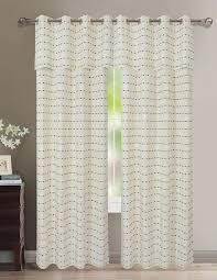 Shower Curtain And Valance Hollywood Grommet Panel Valance U2013 Marburn Curtains