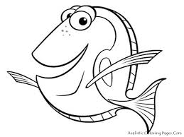 free printable fish coloring pages kid crafts free