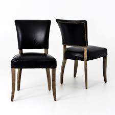Leather Dining Chair Mimi Saddle Black Leather Dining Chair Zin Home