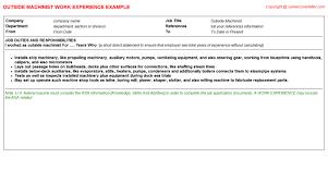Cnc Machinist Resume Template Machinist Resume Wood Machinist Cv Work Experience Steve Taylor