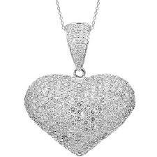 heart gold necklace diamonds images Diamond heart pendants heart necklaces avianne co jpg