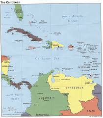 Map Caribbean Sea by The Caribbean Political Map 1988 Full Size