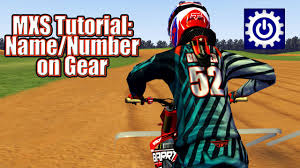 motocross jersey numbers mx simulator tutorial name number on gear youtube