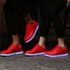 ladies light up shoes women s low top red led light up shoes women s light