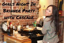 girls night in brinner party with cascade haute cocktail