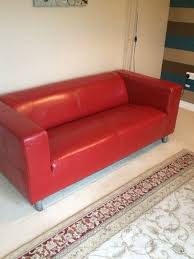 Leather Sofa Bed Ikea Attractive Ikea Red Leather Sofa Adorable Red Colored Ikea Sleeper