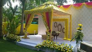 Bengali Mandap Decorations Flower Decoration Walkway Flower Decoration In Wilson Garden