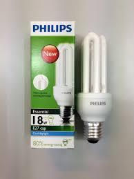 12pc philips energy saving bulb plce 18w cool daylight white