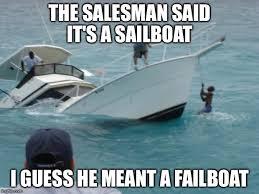 Yacht Meme - boat fail memes imgflip