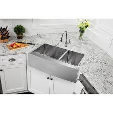double basin apron front sink soleil 36 x 20 75 apron front 60 40 double bowl undermount