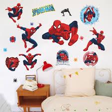 multi pvc cartoon spiderman baby wall stickers for kids nursery