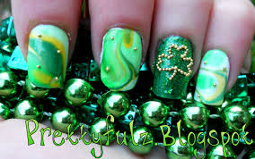 prettyfulz st patrick u0027s day nail art design
