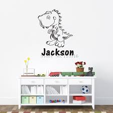names for home decor shops lh056 cute dinosaur personalise custom name pvc wall stickers home