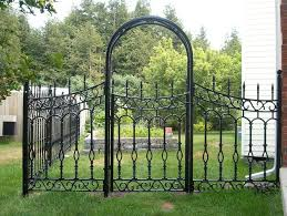 Decorative Outdoor Fencing Wrought Iron Trellis Landscape Traditional With Decorative Garden