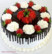 honey chocolate and strawberry cake valya u0027s taste of home