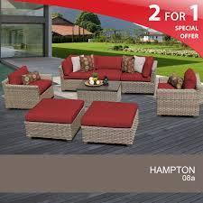 Patio Furniture Ventura Ca by Hampton 8 Piece Outdoor Wicker Patio Furniture Set 08a Walmart Com