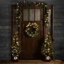 shop living pre lit front door decoration kit with