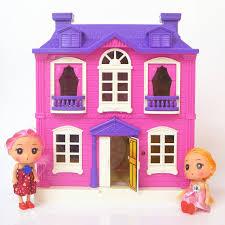 chambre à theme avec maisons de poupées jouets heureux famille thème villa maison