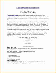 Format Resume For Freshers Sample Fresher Resume