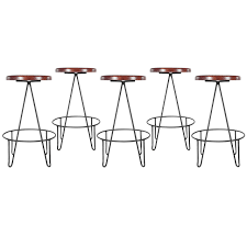 Hairpin Legs Los Angeles by Frederick Weinberg Iron Hairpin Leg Bar Stools At 1stdibs