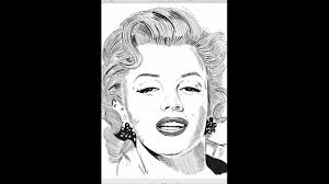 awesome speed sketch marilyn monroe with samsung galaxy note2