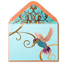 hummingbird on teal from papyrus gorgeous handmade greeting cards