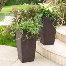 How Do Self Watering Planters Work Square Lechuza Cubico Cottage Self Watering Resin Planter Hayneedle
