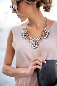 big fashion statement necklace images How to wear a statement necklace clothes pinterest fashion jpg