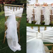 chair bows 2018 2017 chair sash for weddings tulle delicate wedding