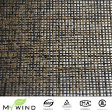 high quality wholesale interior design wallpaper from china dark brown texture paper weave with silver foil background wall covering special wallpaper for luxury home