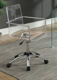 Caraway Clear Acrylic Office Chair
