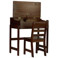 desk chairs wooden desk and chair childrens kids slant walnut