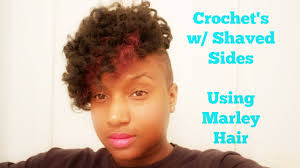 crochets w shaved sides youtube
