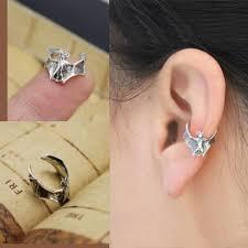 ear cuff piercing bogo vire bat ear cuff single no piercing lilyfair jewelry