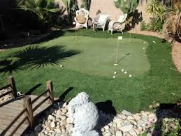 Small Backyard Putting Green Synthetic Turf Ripley California Backyard Putting Green Backyard