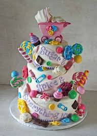 sugar and spice and everything nice baby shower cake for twin