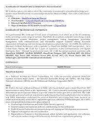 sharepoint resume clayton cobb resume sharepoint