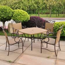 trendy patio set round table with clear glass countertops also