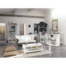 Miroir Industriel Maison Du Monde by Mobile Bar Bianco In Legno Effetto Anticato Con Cassetti L 129 Cm